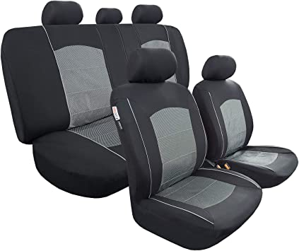 Amazon Com Iseatcover Seat Covers For Cars Trucks Girly Suv Women Charcoal Black Full Set Front And Rear Split Bench Protection Easy Install Airbag Safe Automotive