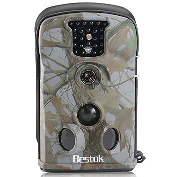 Bestok Cámara de Caza 12MP HD para Vigilancia Visión Nocturna 120 °Gran Angular Impermeable CAM