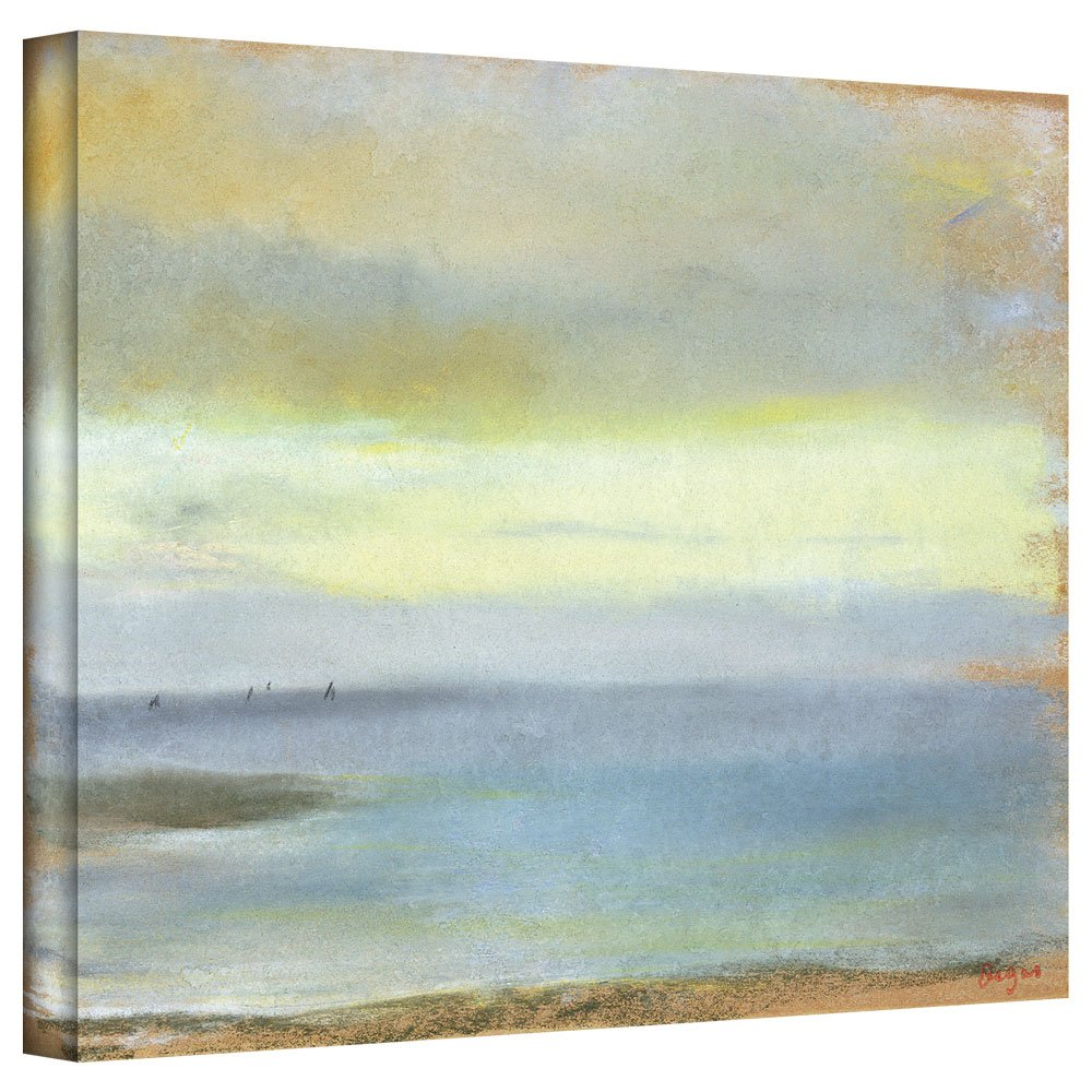 ArtWall 'Marine Sunset' Gallery-Wrapped Canvas Artwork by Edgar Degas, 24 by 32-Inch