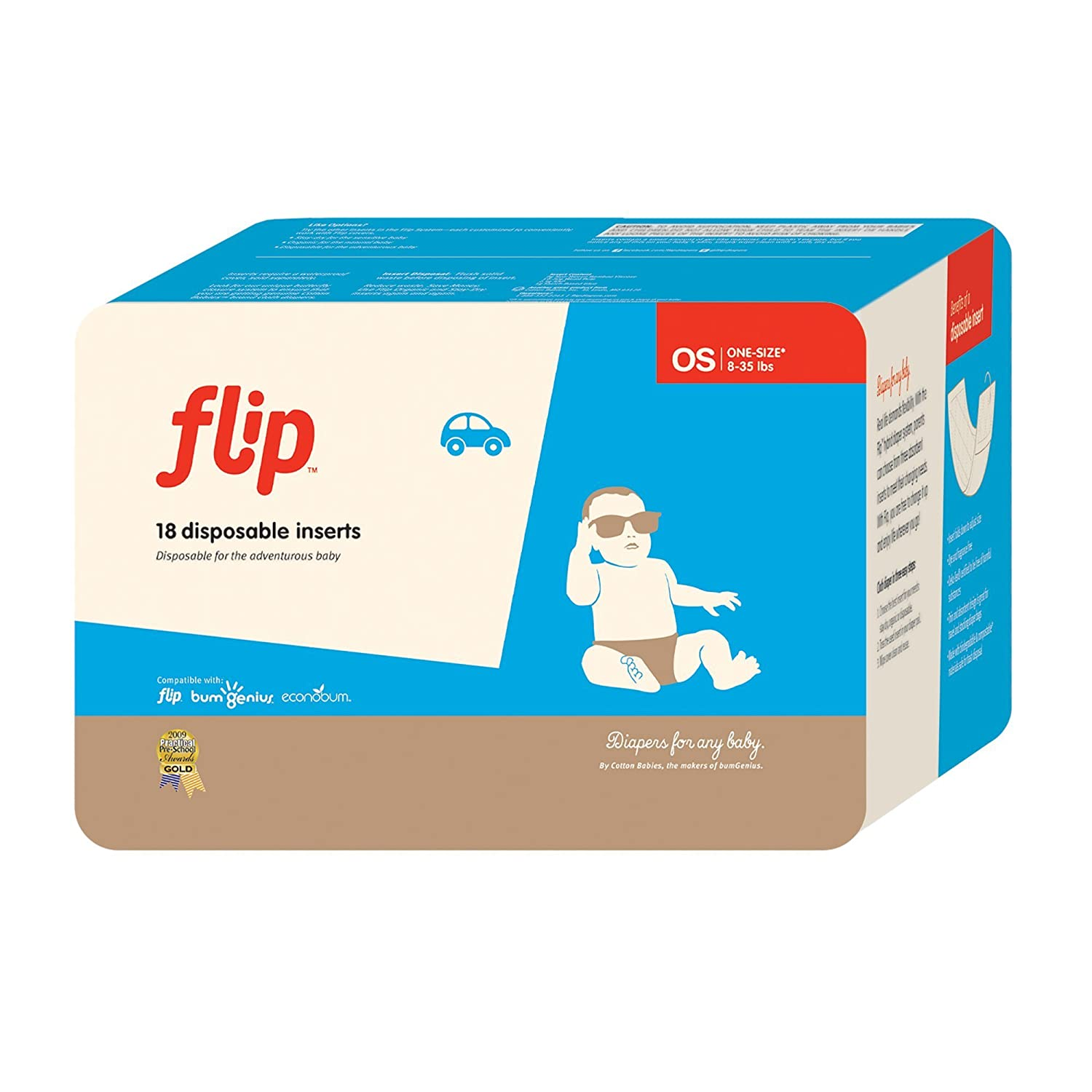 flip Disposable Diaper Inserts, 18 Count