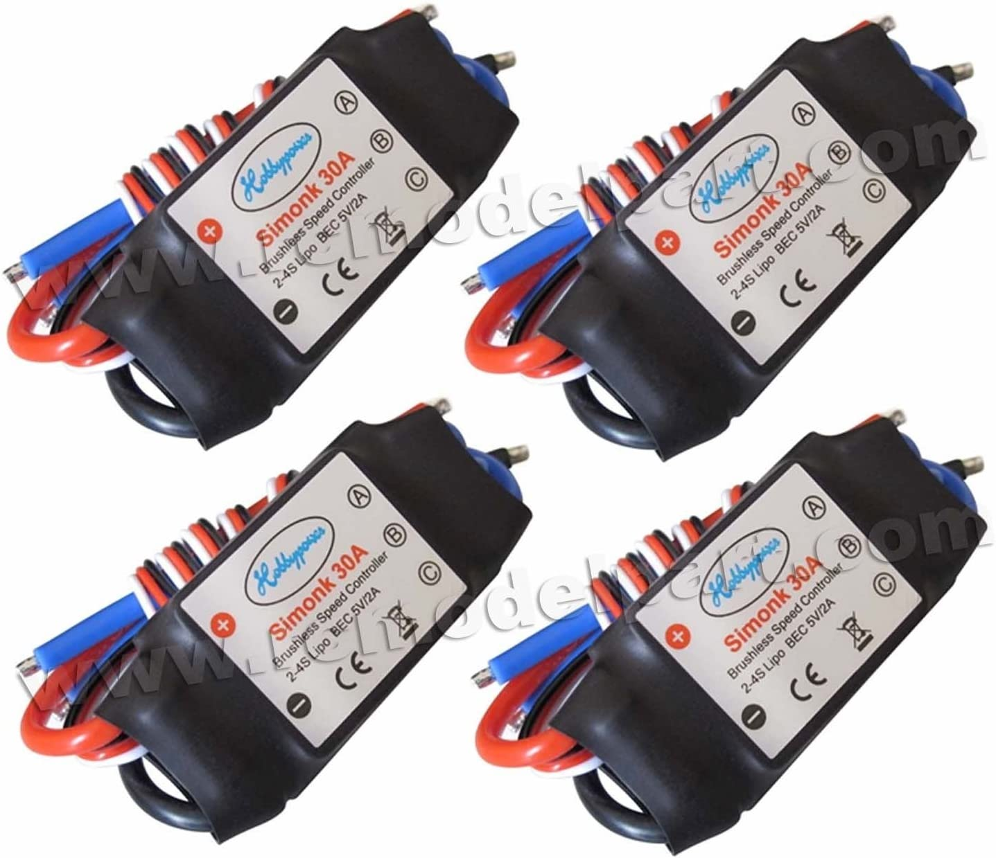 Hobbypower HP SimonK 30A ESC Brushless Speed Controller for Multicopter F450 F550 X525(Pack of 4 pcs)