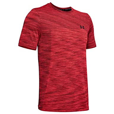 a5d68edc6 Under Armour Men's Vanish Seamless Shortsleeve Short-Sleeve Shirt, Martian  Red / / Black