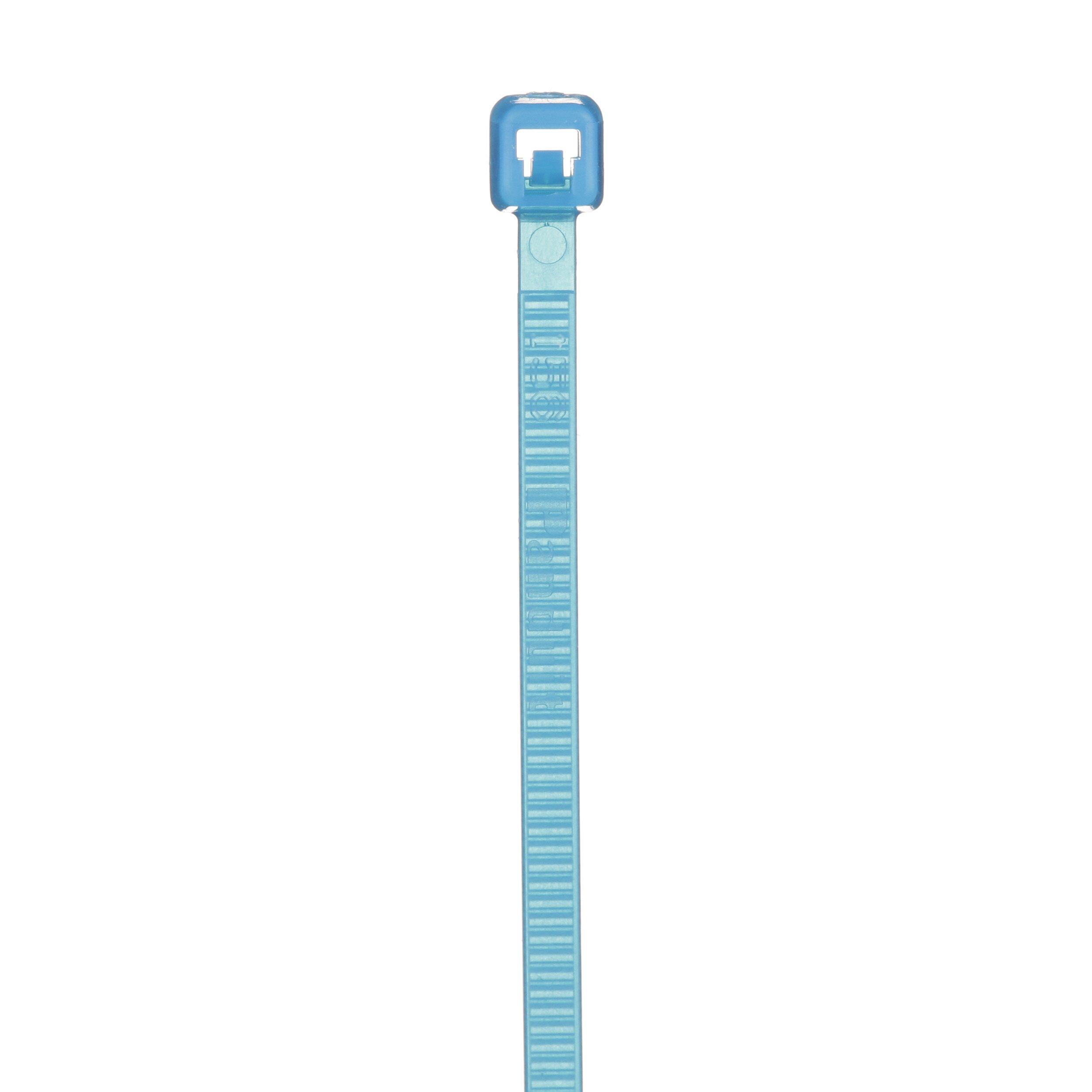 Panduit PLT1M-M76 Cable Tie, Miniature, Tefzel, 4.0-Inch Length, Aqua (1,000-Pack)