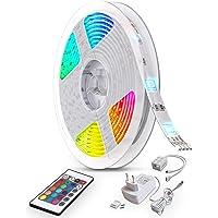 B.K.Licht I 10m LED-Strip I lichtstrip met 16 kleuren I band kleurverandering met afstandsbediening I dimbaar I…