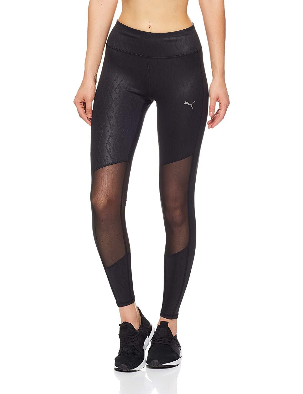 Puma Always On Graphic 7/8 Tight Pantalones, Mujer, Negro (Black/Emboss), S