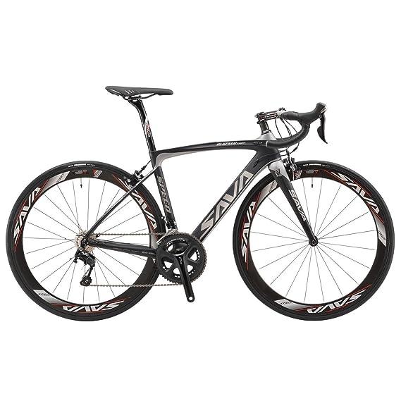 SAVA Bicicleta de Carretera de Fibra de Carbono 700C SHIMANO 5800 22-Velocidad Sistema de Transmisión/Frenado Maxxis Neumáticos Fizi: k Cojín Bicicleta ...