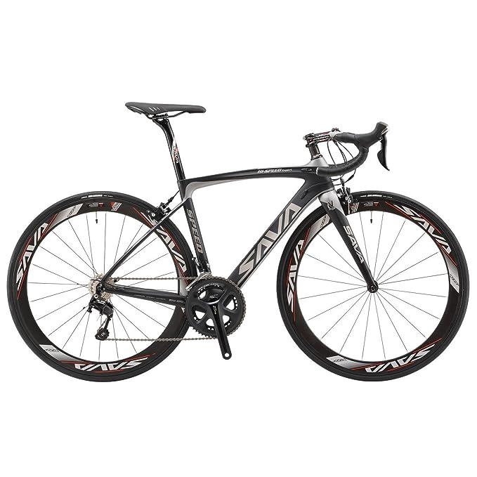 1 opinioni per SAVA 700C Fibra Di Carbonio Bici da Strada SHIMANO 5800 22 Vitesses Système