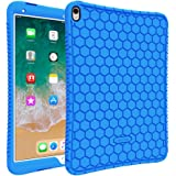 Fintie iPad Pro 10.5 Case - [Honey Comb Series] Light Weight Anti Slip Kids Friendly Shock Proof Silicone Protective Cover for Apple iPad Pro 10.5 Inch 2017 Release Tablet, Blue
