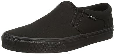 3f604525de0 Vans Men s Asher (Canvas) Black Black Skate Shoe 7 Men US