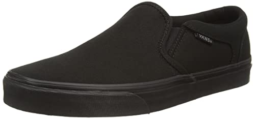 Vans Mens Asher (Canvas) Black/Black Skate Shoe 8 Men US
