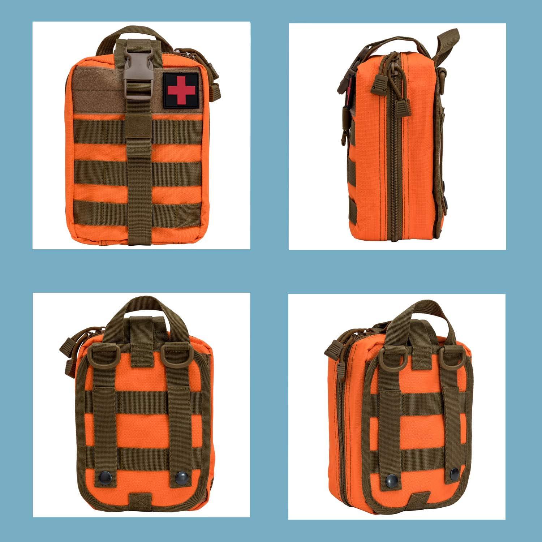 Krisvie M/édica Bolsa Primeros Auxilios Bolsa T/áctica Compacta Botiqu/ín y el Esquileo de los Primeros Auxilios