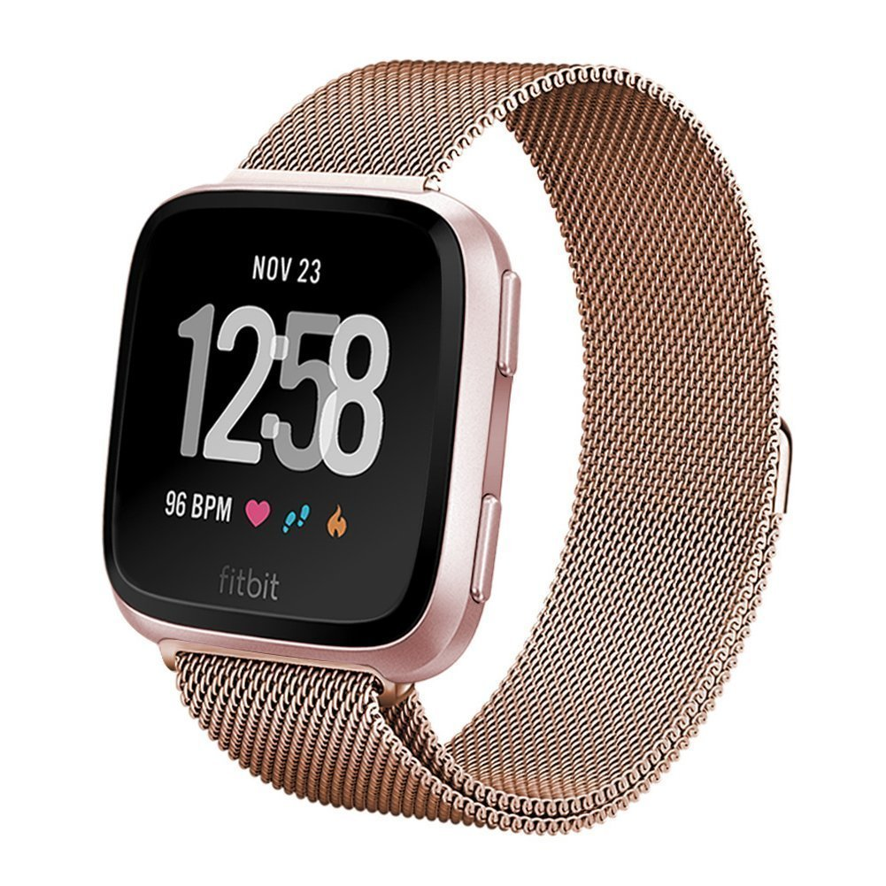Love this rose gold band for Fitbit Versa