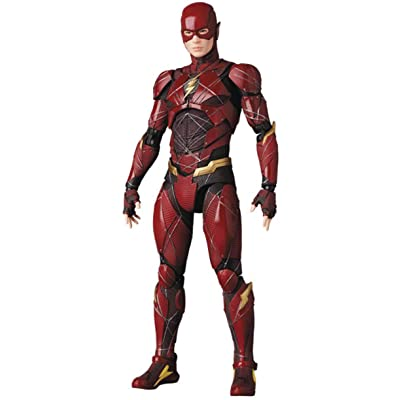 Entertainment Earth Justice League Movie Flash Mafex Action Figure: Toys & Games