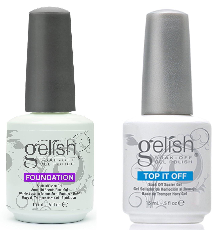 Gelish Top + Base Foundation Gel Soak off Gel Polish 15ml 0.5oz each HealthCentre H01503