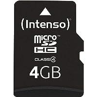Intenso Micro SDHC 4GB Class 4 Speicherkarte inkl. SD-Adapter