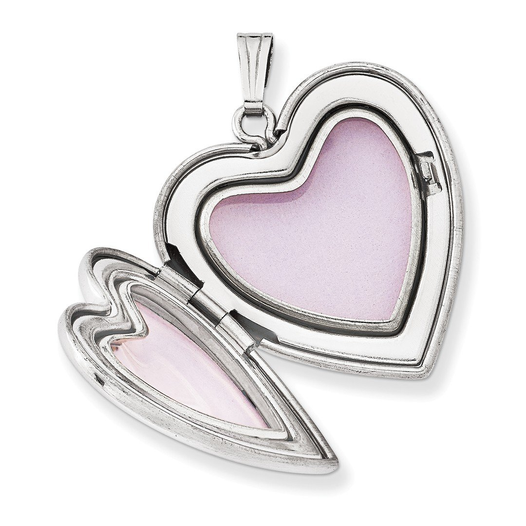 ICE CARATS 925 Sterling Silver 24mm Swirl Heart Photo Pendant Charm Locket Chain Necklace That Holds Pictures Fine Jewelry Ideal Gifts For Women Gift Set From Heart by ICE CARATS (Image #3)