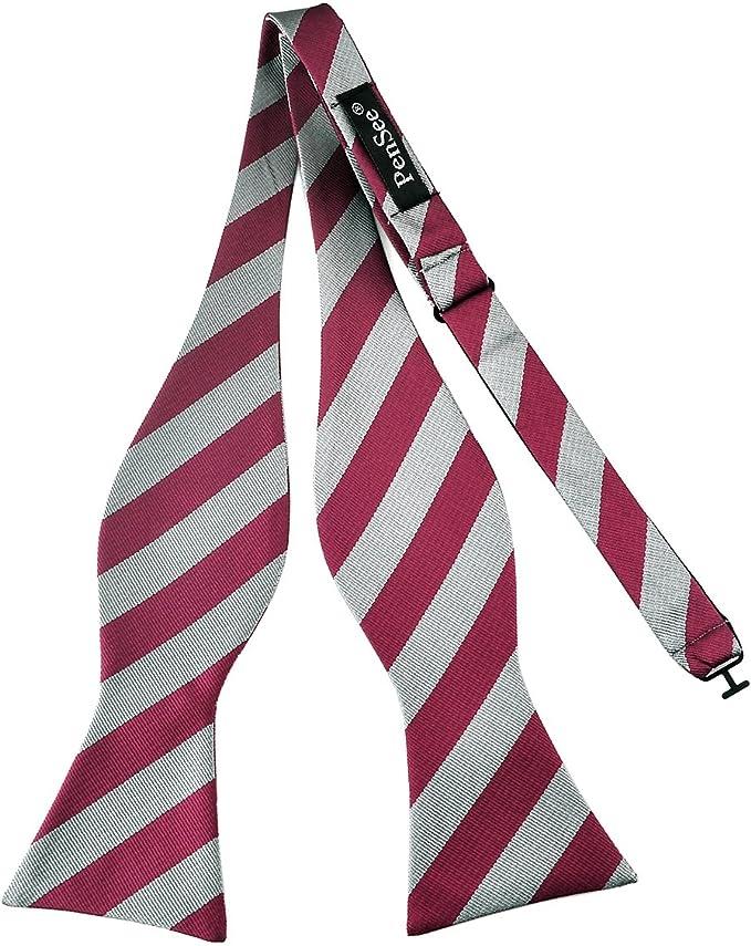 PenSee - Pajarita para anudar clásica de tejido a rayas de seda ...