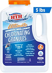 HTH 22007 Ultimate Mineral Brilliance Chlorinating Granules for Swimming Pools, 5 lbs