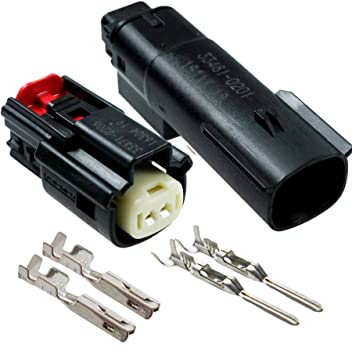 Amazon.com: Molex Black 2 Pin Male and Wire Connector ... on