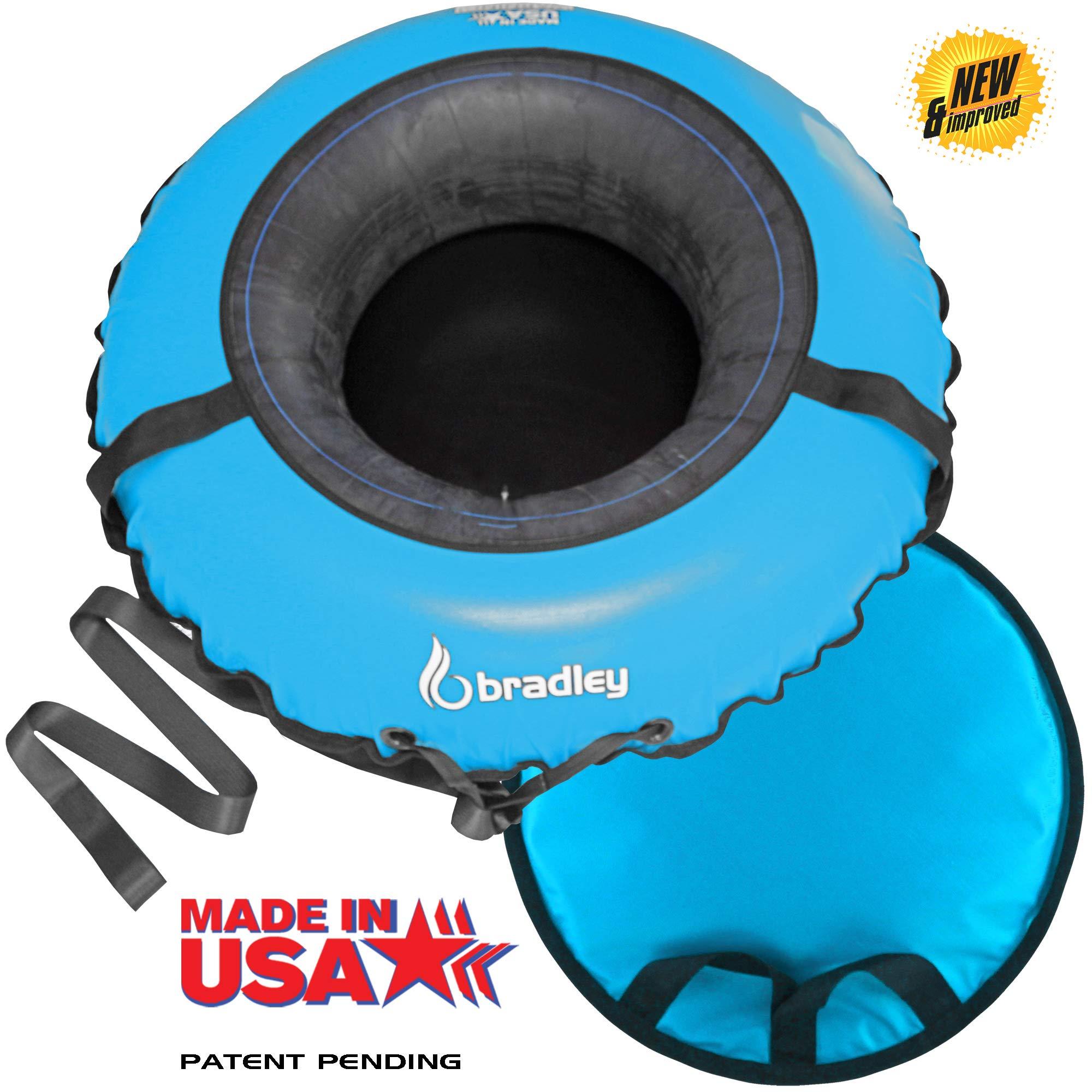 Bradley Tow-able Snow Tube with 50'' Cover | Sledding Tubes | Inflatable Snow Sled | Snow Saucer | Heavy Duty Snow Tube