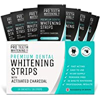 Tanden Strips met Actieve Kool - 28 Tanden Bleken Strips (14 Boven + 14 Onder) - Snelwerkende Tandenbleekset…