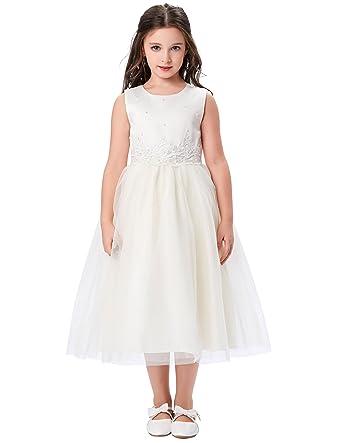 Amazon Trendyfashion Sleeveless Flower Girls Bridesmaid Wedding