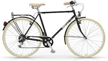 Bicicleta MBM Old Style Elite Hombre 28 pulgadas 6 velocidad negro ...