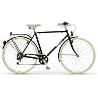 MBM Bicicleta Old Style Elite Hombre 28 Pulgadas de 6 Velocidades Negro