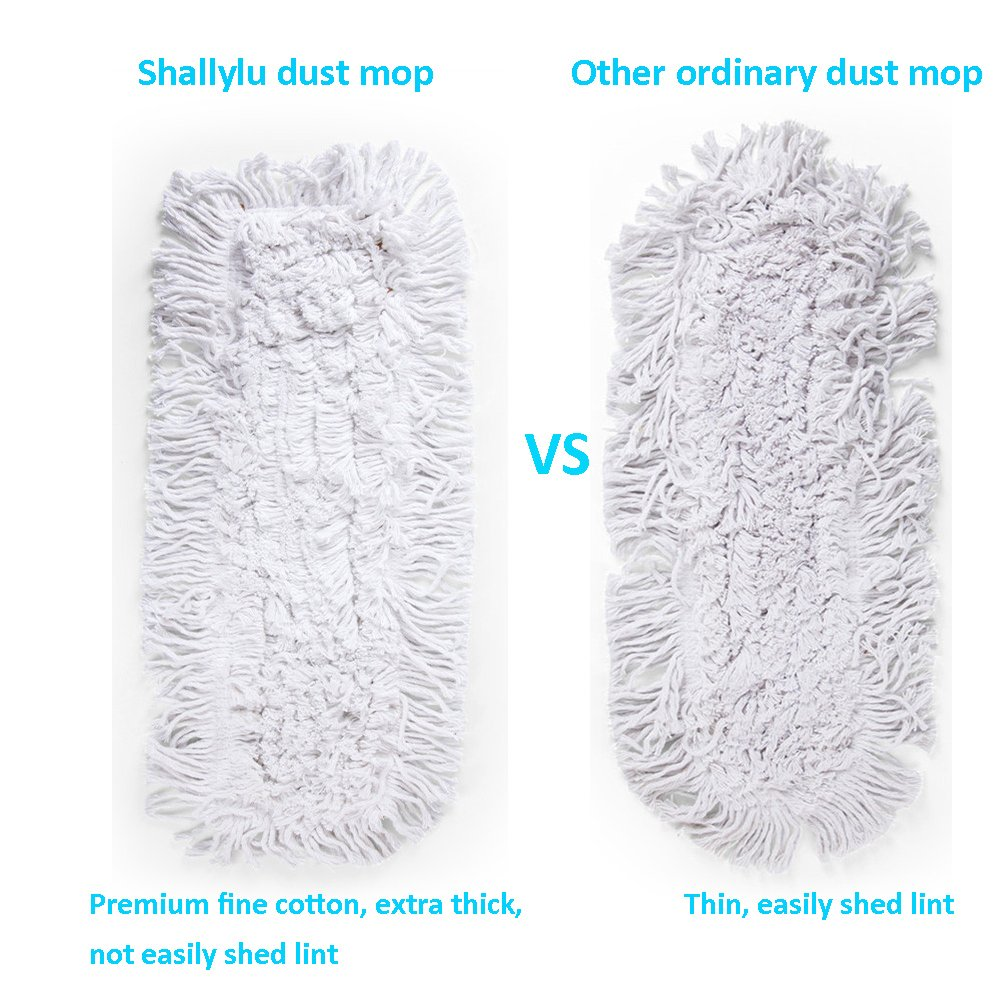 Shallylu 24'' Dust Mop Head, Dust Mop Refill Floor Mop Washable Cleaning Cotton Dust Mop for Hardwood Floor Clean, Office, Garage Care, Laminate, Tile Flooring, Home & Commercial Use by Shallylu (Image #3)