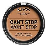 Nyx Professional Makeup Base maquillaje en polvo cant stop wont stop, nyx professional makeup, tono golden honey