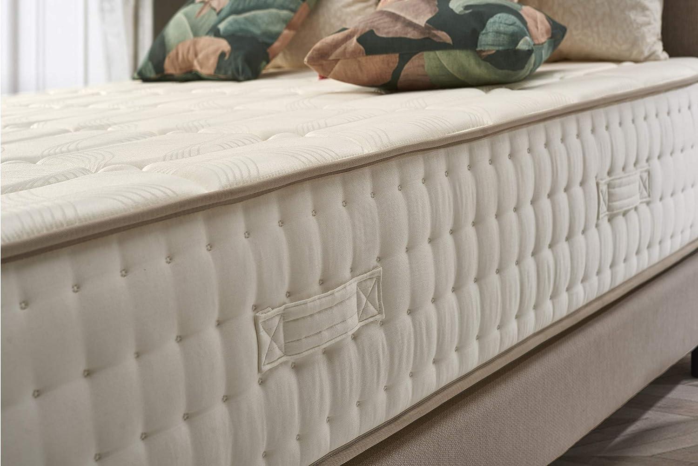 Rinforzato con Sistema Antiaffossamento Zone Ergonomiche Differenziate Ultra Comfort Naturalex Luxury Materasso Memory Singolo 70x190 cm Gamma Hotel Spessore 25 cm Anatomico