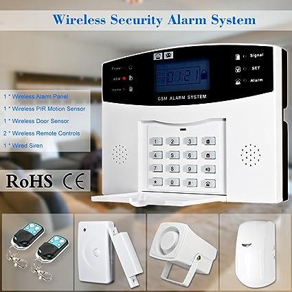 Festnight Inalámbrico gsm SMS Home Antirrobo Sistema de ...