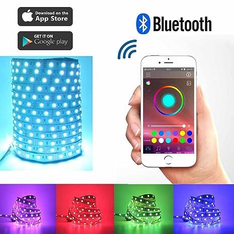 Toogod Smart RGB LED Strip Light Kit,Bluetooth Smartphone