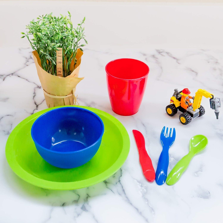 Amazon.com: Youngever - Juego de vajilla de plástico para ...