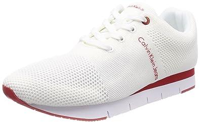 d5fe84140dd48f Calvin Klein Jeans Jado Mesh, Sneakers Basses Homme, Blanc (WHT 000 ...