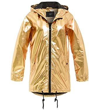 latest style shop for official best sale SS7 Womens Silver Metallic Rain Mac Waterproof Raincoat ...