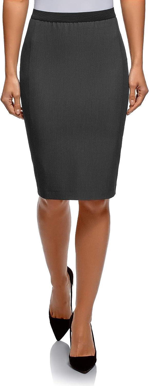 oodji Ultra Mujer Falda-L/ápiz con El/ástico