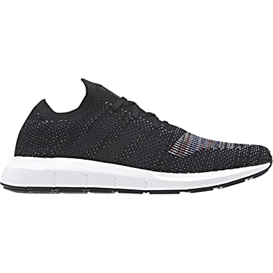 92a5978468c5b adidas Mens Originals Mens Swift Run Primeknit Trainers in Black - UK 6