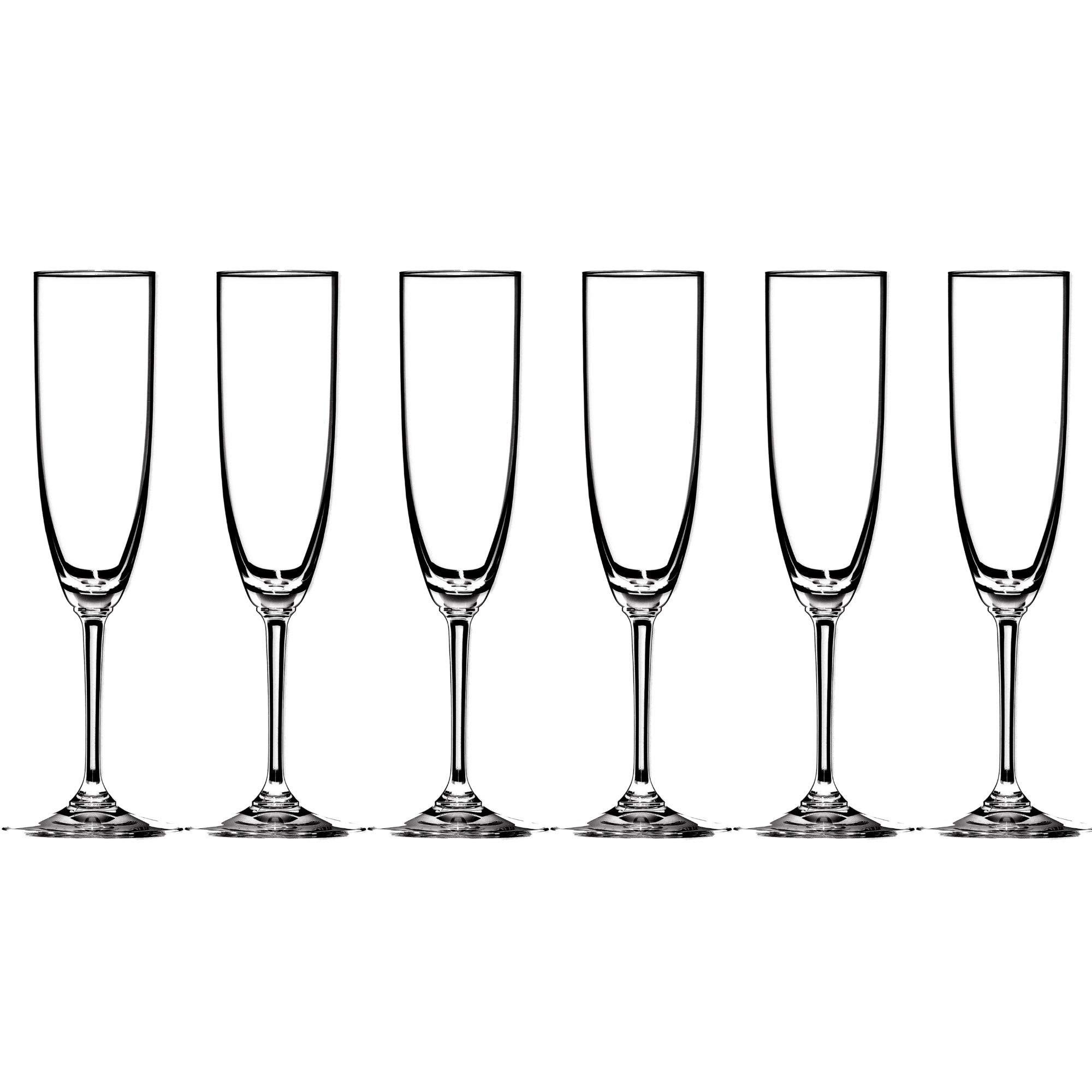 Riedel Vinum Leaded Crystal Champagne Flute, Set of 6