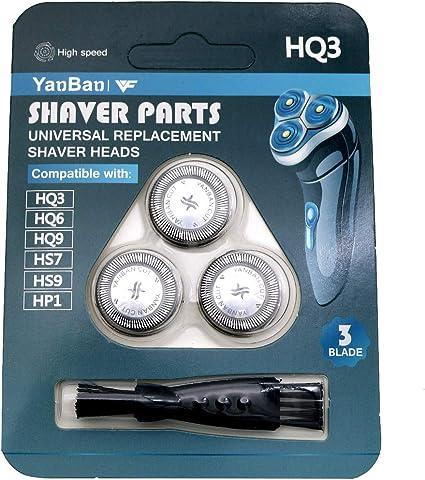 VINFANY 3 piezas de repuesto para la cuchilla de afeitar cabezal ...