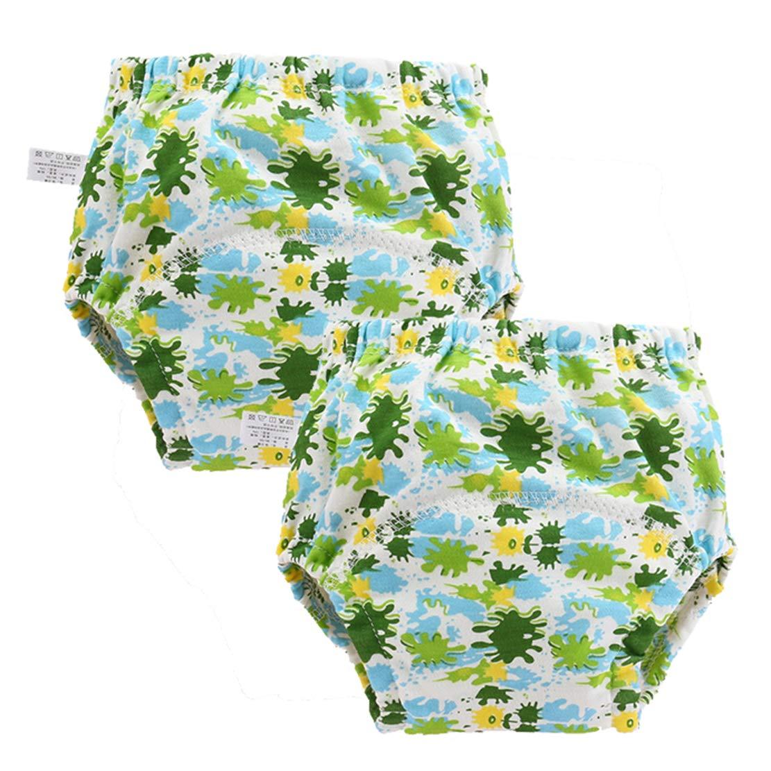 mama stadt 2er Pack Baby Trainingshose T/öpfchentraining Unterw/äsche Baumwolle Waschbare Atmungsaktiv Kleinkinder Unterhosen