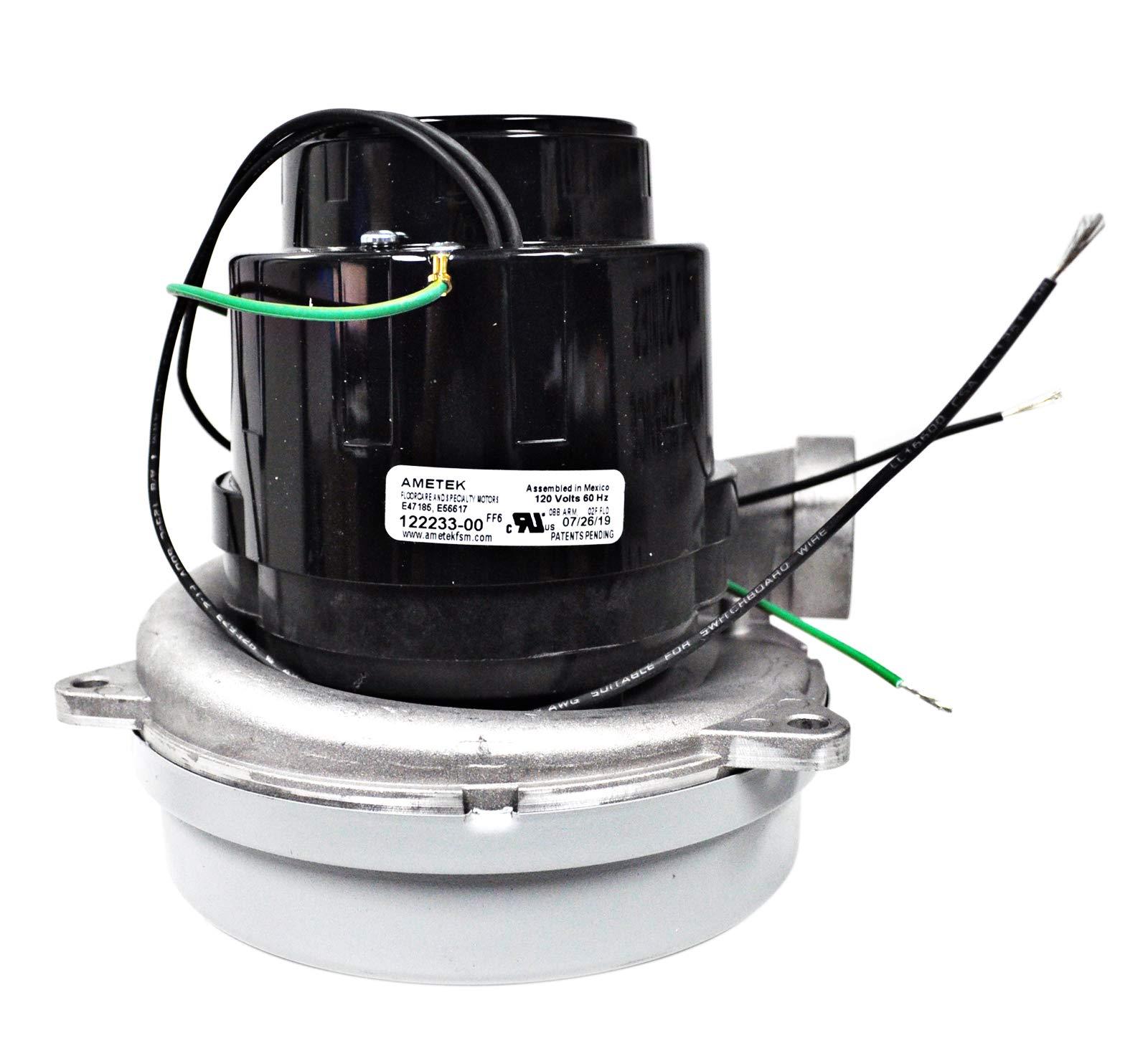 Ametek Lamb 6.6 Inch TB 2 Stage 120 Volt B/B Vacuum Motor 122233-00 by Ametek