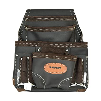 cecf61f2568 Husky Nail and Tool Pouch Oil Tanned Leather Bag - - Amazon.com