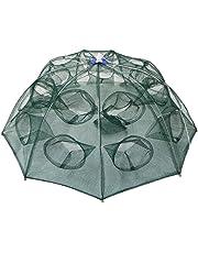 Goture Portable piegato rete da pesca di pesce gamberetti Minnow gamberi granchio esche cast mesh trappola automatico