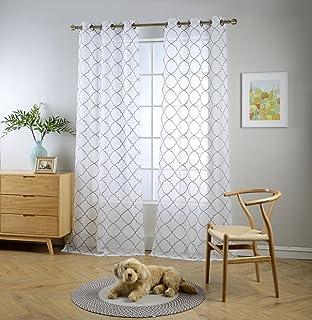 Amazon French Door Curtain Panel Linen Look French Door