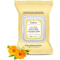 Babo Botanicals Sensitive Baby 3-in-1 Face, Hand & Body Wipes with Oatmilk & Organic Calendula, Hypoallergenic, Vegan…