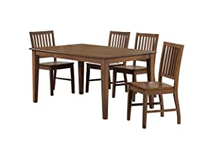 Sunset Trading Simply Brook Dining Table Set, Amish Brown