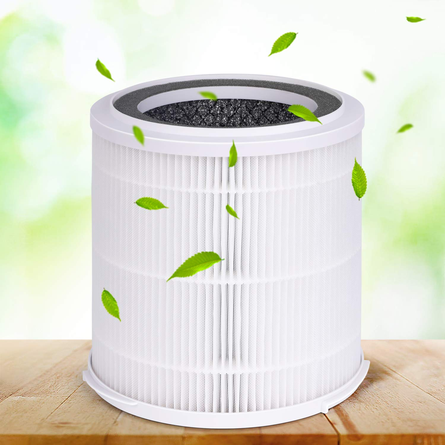 INTEY Hepa Air Purifier - No Ozone,True HEPA &Active Carbon Filters, 8H Timer, Air Purifiers Allergies/Smoke - Removes 99.97% Dust, Pollen, Pet Dander (322 sq.ft/ 30 m², CADR Rated 140+)