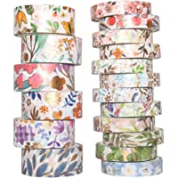 Yubbaex Floral Gold Washi Tape Set VSCO Foil Masking Tape Decorative for Arts, DIY Crafts, Bullet Journal Supplies…