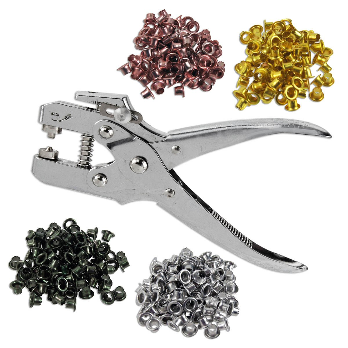 TP Heavy-Duty 3/16'' Eyelet Grommet Pliers Set with 400 Eyelets - Easy to Use